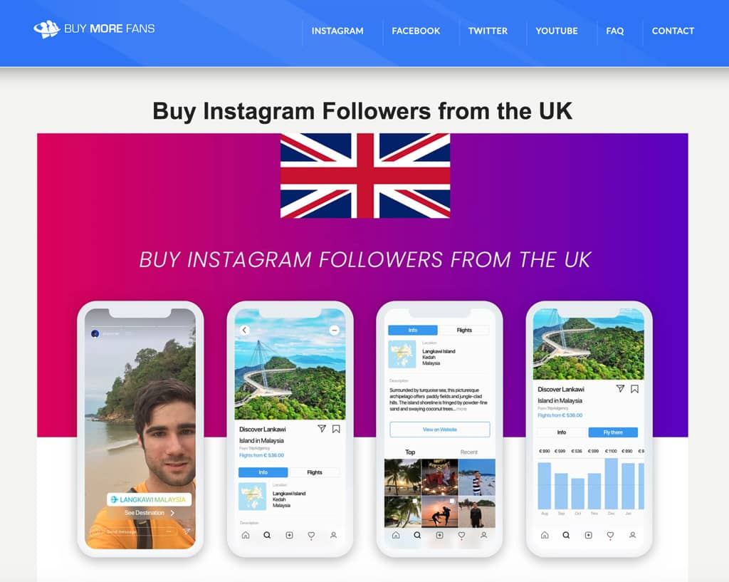 Best sites to buy Instagram followers in the UK